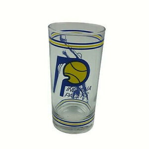 Indiana Pacers tall Glass Basketball Vintage with 1970s 1980s Logo