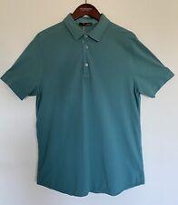 Loro Piana Cotton Mens Polo Teal Green Large FAI1315