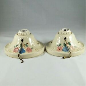 2 Porcelier 1930's Ceramic Light Fixtures