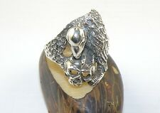 Sterling Silver Ring With Vulture on a Skull Shape Size 9.5 Unisex