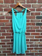 Splendid Blue Teal Racerback Waisted Flowy Summer Stylish Dress XS Anthropologie