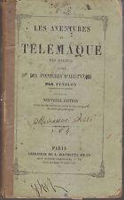 LES AVENTURES DE TELEMAQUE FILS D ULYSSE di Fenelon 1861 Librairie de L Hachette