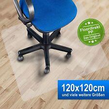 Bodenschutzmatte 120x120cm für Hartböden aus Polypropylen | Farbe milchig
