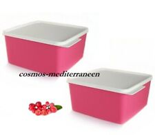Tupperware set (2) fresh maline boite 2,5l rose neuf dm