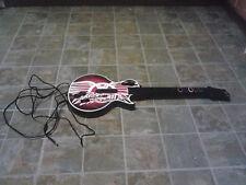 RARE PS3 Guitar Hero LES PAUL corded WIRED GUITAR Kiosk Controller Aerosmith