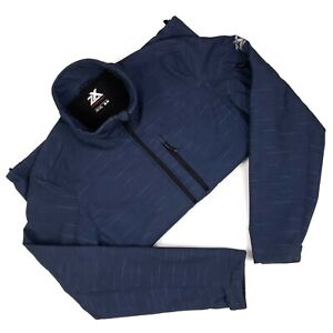 Mens Softshell Jacket Medium Blue ZeroXposur Full Zip Long Sleeves Size M Pocket