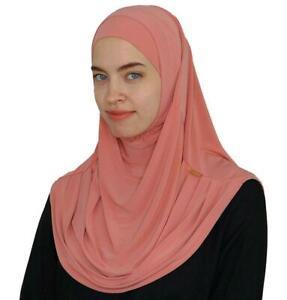 Practical Amira Hijab & Luxury Bonnet -Peach color