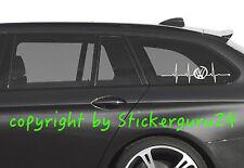 Aufkleber Herzschlag Volkswagen VW Motorsport Racing Logo Golf,Passat,GTI Decal