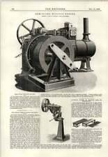 1889 Semifixed Winding Engine Mclaren Leeds Higley Metal Sawing Machine