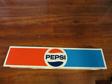 PEPSI cola soda pop advertising logo long display topper collectible steel sign,
