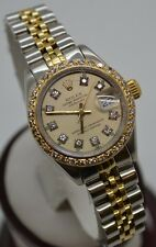Rolex Ladies Datejust YG/SS Diamond Dial & Bezel Jubilee 6917 Two Tone