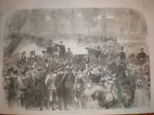 German Emperor Wilhelm I arrives Versaille 1870 print