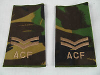 British Army Cadet Force ACF Woodland Camouflage DPM Corporal Rank Slides Z1  A1