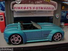 2013 Hot Wheels Ford Shelby Cobra Concepto Azul Multicolor Diseño Ex Nuevo Loose