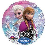 "Disney Frozen Balloon Party Elsa Anna 18"" One (1) Double Sided Mylar"