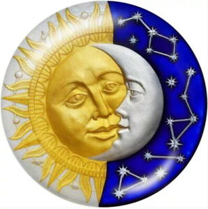 Glass Yellow Lady Sun Face Moon Celestial 18mm Snap Charm For Ginger Snaps