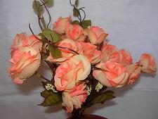 2 set di alta qualità Pianta Artificiale Fiore Rosa Pesco XY