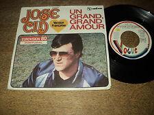 """EUROVISION 1980 45 TOURS 7"""" FRANCE JOSE CID UN GRAND GRAND AMOUR"""