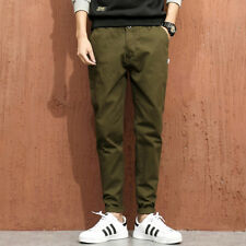 4 Color Available Casual Man Style Tapered Pants - Green
