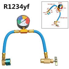 R1234yf A/C Can Tap 100Psi Gauge Charging Hose Kit Refrigerant AC Conditioning