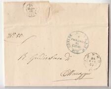 1862 lettera LENNO-COMO+t.2c SABAUDO LENNO+bollo VERDE COMUNE-K566