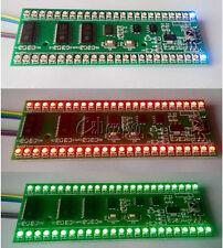 RGB MCU Adjustable Display Pattern 24 LED VU Level Indicator Meter Dual Channel