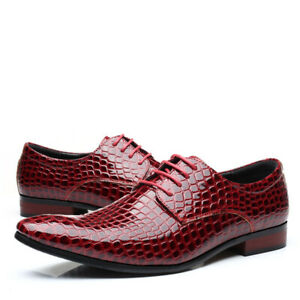 Men Pointed Toe Lace Up Shoe Business Formal Dress Suit Fashion Oxfords Oversize