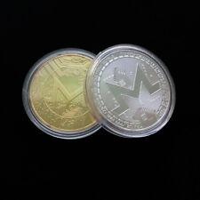 2 x Monero Coins XMR Commemorative Collectible Coin Virtual Coins Gift Currency