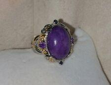 Gems En Vogue Michael valitutti 18k Yellow Gold Sterling silver Purple Jade Ring