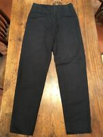Authentic DOLCE & GABBANA Mens Trousers Linen/Cotton Blend size 46 Dark Navy