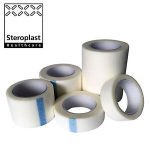 STEROTAPE PROFESSIONAL MEDICAL MICROPORE HYPO-ALLERGENIC SOFT FABRIC WHITE TAPE