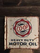Vintage Coop Oil Flange Sign