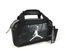 "NWT Jordan Kids Black Insulated Soft Mini Duffel School Lunch Bag Tote 10""x5.5"""