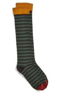 Bonne Maison 161861 Women's Casual 'Spruce Stripe' Green Socks Size 4.5-6.5