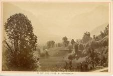 A. Garcin, Suisse, Vue des montagnes prise à Interlaken, ca.1880, vintage albume