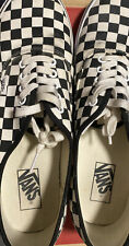 Men's Vans Checkerboard Classic Black Off White Low Sk8 Shoes Sz 11 WITH BOX
