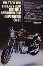 1982 KAWASAKI KZ440 LTD BELT DRIVE 2 Page Motorcycle Ad