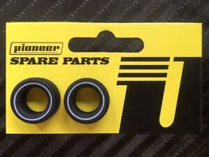 Pioneer TY200951 Front/Rear Street TIres Whitewall (2) 1/32 Slot Car