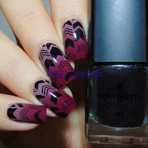 6ml Born Pretty Nail Art Stamping Polish Black Nail Stamp Printing Varnish #3