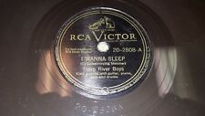 DEEP RIVER BOYS I Wanna Sleep/ Two Blocks Down, Turn Left 78 RCA Victor 20-2808