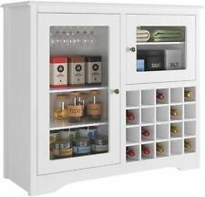 Buffet Server Wood Wine Cabinet Sideboard Cupboard Table Kitchen, White