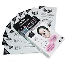 10X Charcoal Bamboo Blackhead Black Head Remover Nose Pore Cleaning Mask Strips