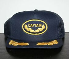Vintage Captain Patch Hat Mesh Snapback Metallic Gold Scrambled Eggs NEW