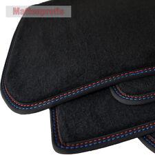 Tappetini professionisti velluto tappetini cucitura doppia per BMW 3er e46 Cabrio ab Bj. 2001-2007