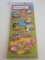 Rare Walt Disney World 40th Anniversary Magic Kingdom 7 Pin Set Land Attractions