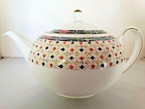 Wedgwood Harlequin Teapot Bone China England 1997 4 Cup