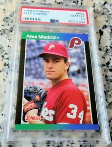 ALEX MADRID 1989 Donruss RARE ERROR Rookie Card RC PSA 10  © 1988 Leaf Inc HOT