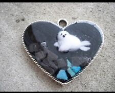 Handmade Wildlife Baby Seal Pup Necklace Jewelry Save The Seals Zoo Keeper Fish