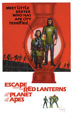 PLANET OF THE APES/GREEN LANTERN #3 E.M Gist VARIANT Cover 1:10