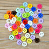 300 Stücke Mischfarbe 4 Löcher Runde Form Harz Taste Zum Nähen Sammelalbum Craft